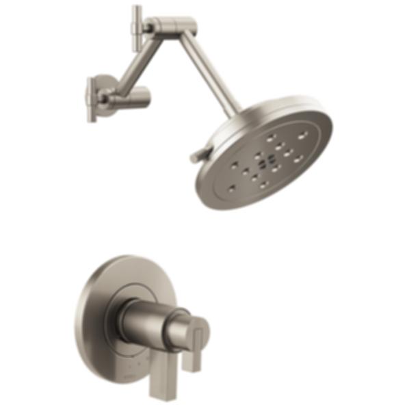 Litze™ TempAssure® Thermostatic Shower Only - Less Handles T60235-PCLHP--HL6032-PC--R60000-UNBX