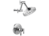 Litze™ TempAssure® Thermostatic Shower Only - Less Handles T60235-PCLHP--HL6033-PC--R60000-UNBX