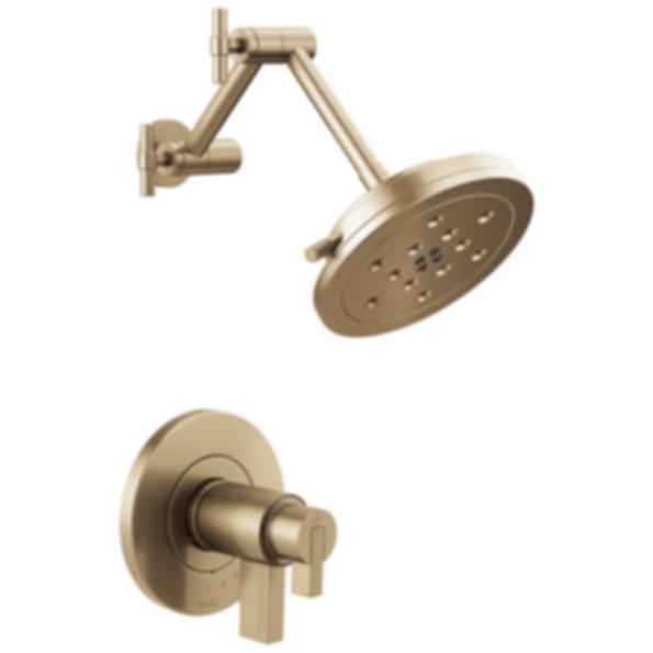 Litze™ TempAssure® Thermostatic Shower Only - Less Handles T60235-PCLHP--HL6033-PC--R60000-UNBX