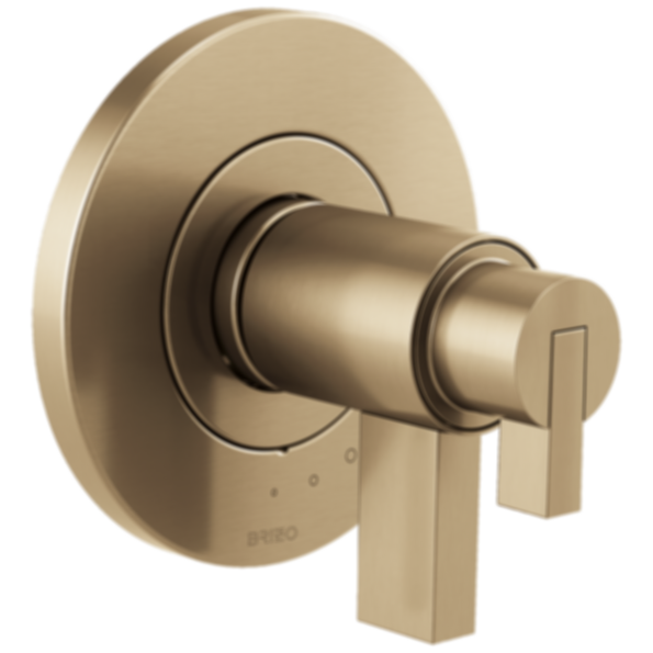 Litze™ TempAssure® Thermostatic Valve Trim - Less Handle T60035-PCLHP--HL6032-PC--R60000-UNBX