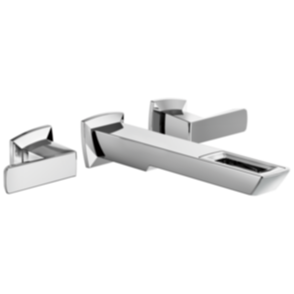 Vettis™ Two-Handle Wall Mount Lavatory Faucet with Open-Flow Spout T65886LF-ECO