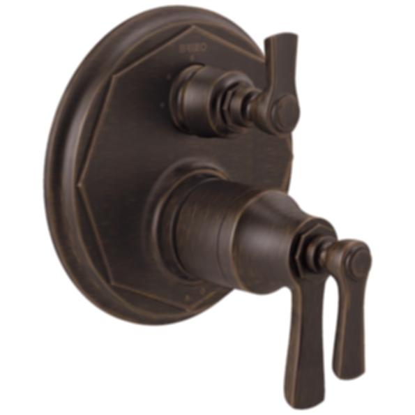 Rook™ TempAssure® Thermostatic Valve Trim with 3-Function Diverter Trim T75561