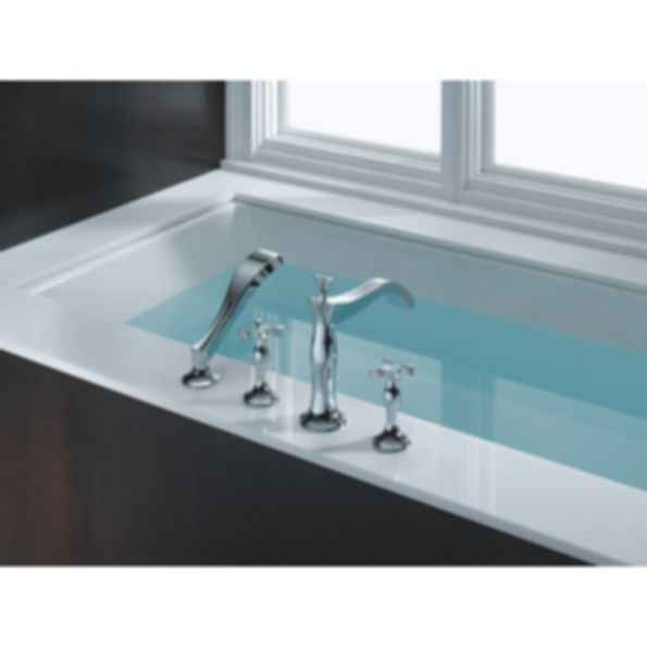RSVP® Four Hole Roman Tub Trim with Hand Shower T67490-PCLHP--HL790-PC--R64707