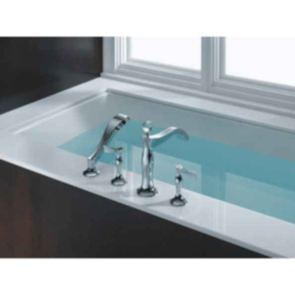 RSVP® Four Hole Roman Tub Trim wtih Hand Shower T67490-PCLHP--HX790-PC--R64707