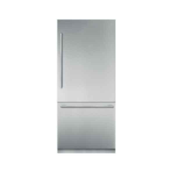 """36"""" Stainless Steel Built In 2 Door Bottom Freezer Refrigerator T36BB910SS"""