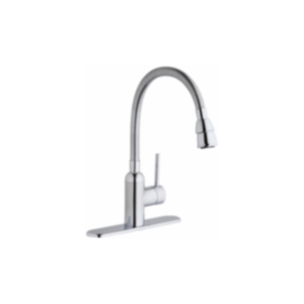 Elkay Pursuit Laundry/Utility Faucet with Flexible Spout Forward Only Lever Handle