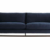 McCartney Sofa Indigo Flannel Dark Walnut