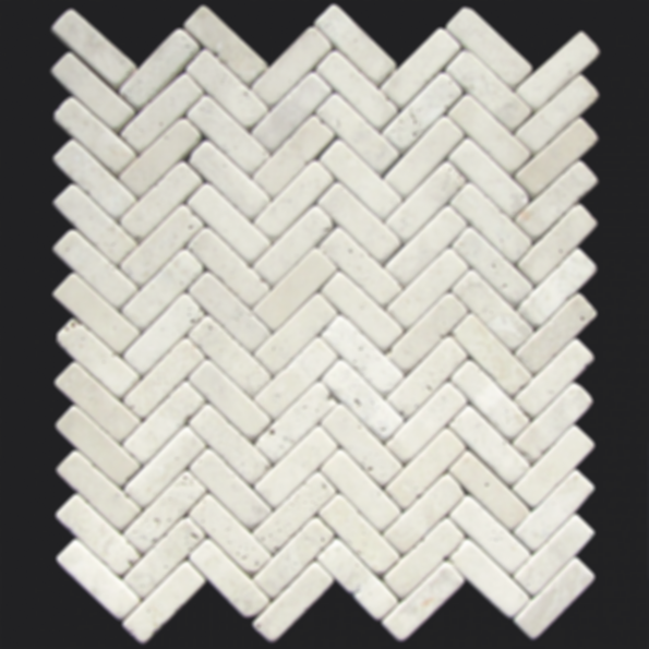 Yurac ZigZag Weave Tumbled Mosaic Travertine Tile