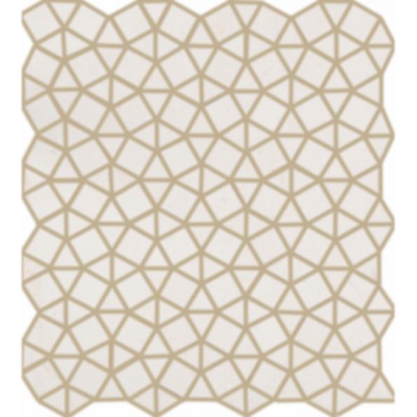 Mocha Cream Geometrix Mosaic Stone Tile