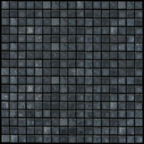 "Santa Anna Black 5/8"" x 5/8"" Polished Mosaic Travertine Tile"
