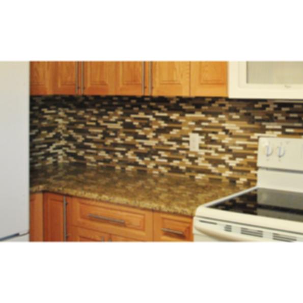Ornamental Dark Granite Countertop