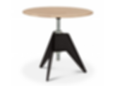Tom Dixon Screw Side Table with Natural Oak Top