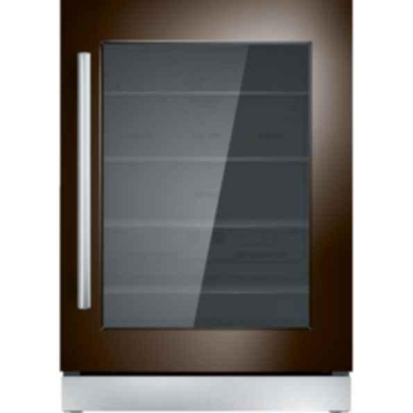 24 inch Custom Panel Under Counter Right Hinge Glass Door Refrigerator T24UR900RP