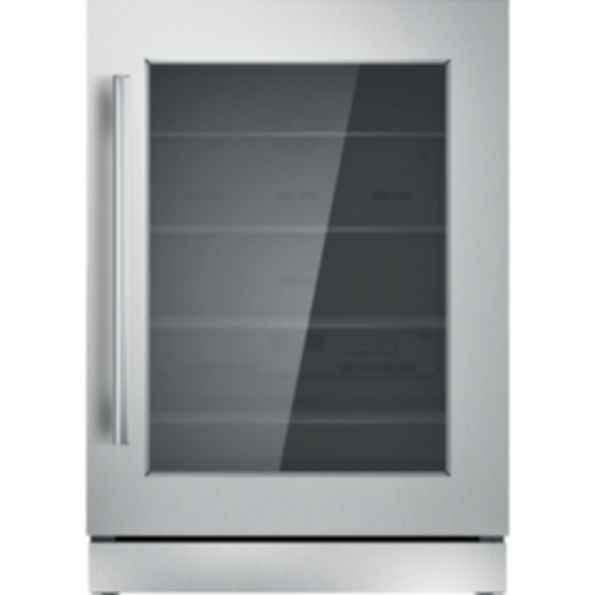 24 inch Masterpiece Under Counter Right Hinge Glass Door Refrigerator T24UR910RS