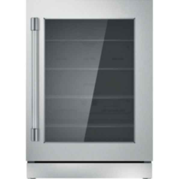 24 inch Professional Under Counter Right Hinge Glass Door Refrigerator T24UR920RS