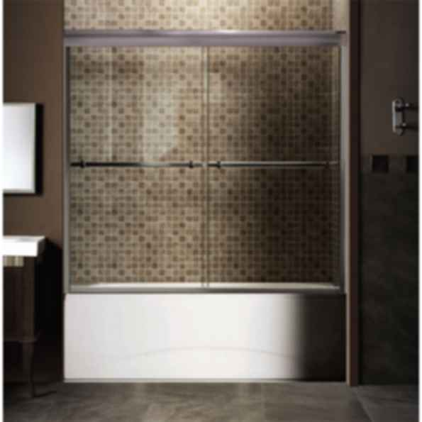 Flora Double Frameless Sliding Bathtub Door 2042TE