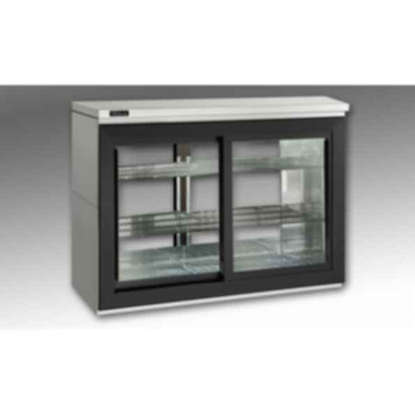 Remote Sliding-Door Pass-Thru Back Bar Refrigerators