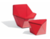 Washington Prism™ Lounge Chair and Ottoman
