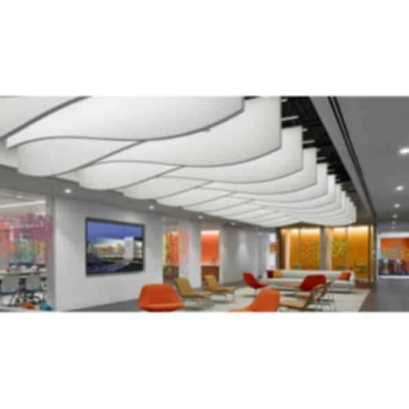 Acoustical Baffles for Partial Ceiling Coverage