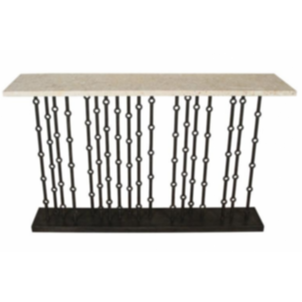 Iron Console with Coral Stone