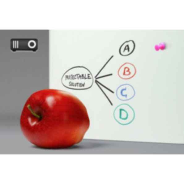 Projectable Magnetic Dry-Erase Glass Marker Board