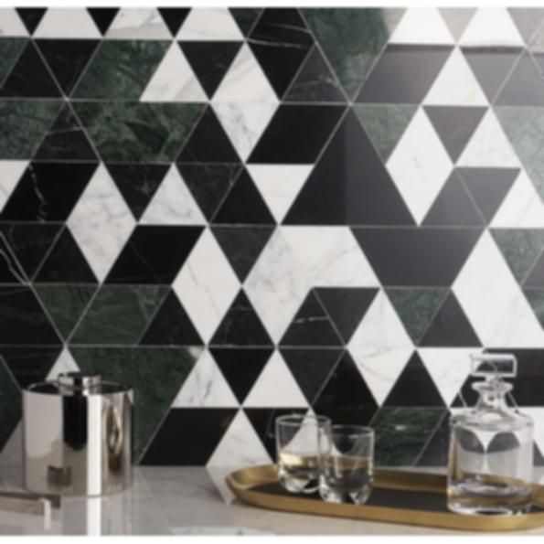 Prism Verdone Marble Mosaic Tile