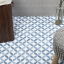 Norwalk Floor Deco Blue 8x8 Matte Porcelain Tile