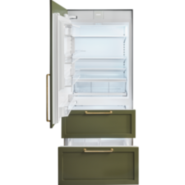 "36"" Designer Over-and-Under Refrigerator/Freezer with Ice Maker - Panel Ready IT-36CI"