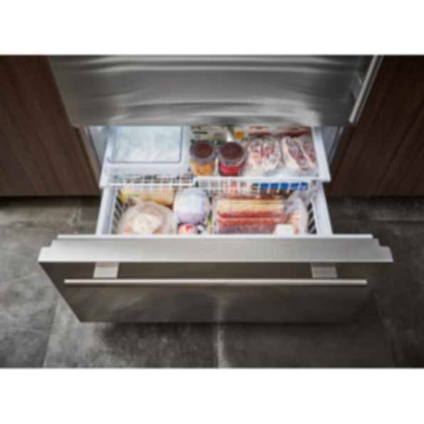 "36"" Classic Over-and-Under Refrigerator/Freezer with Internal Dispenser - Panel Ready BI-36UID/O"