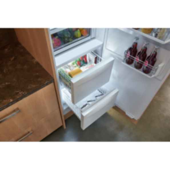 "24"" Designer Column Refrigerator/Freezer with Ice Maker - Panel Ready IC-24CI"