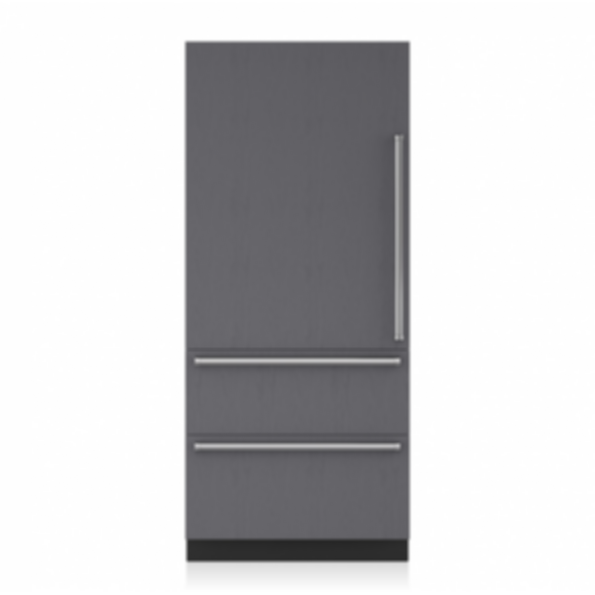 """36"""" Designer Over-and-Under Refrigerator/Freezer with Internal Dispenser and Ice Maker - Panel Ready IT-36CIID"""