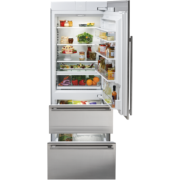 "30"" Designer Over-and-Under Refrigerator/Freezer - Panel Ready IT-30CI"
