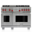 "48"" Dual Fuel Range - 6 Burners and Infrared Griddle DF486G"