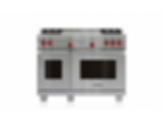 "48"" Dual Fuel Range - 4 Burners and French Top DF484F"