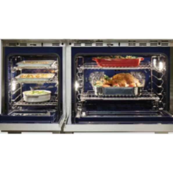 """48"""" Dual Fuel Range - 4 Burners, Infrared Charbroiler and Infrared Griddle DF484CG"""