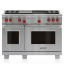 "48"" Dual Fuel Range - 4 Burners, Infrared Charbroiler and Infrared Griddle DF484CG"