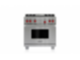 "36"" Dual Fuel Range - 4 Burners and Infrared Griddle DF364G"