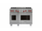 "48"" Dual Fuel Range - 4 Burners and Infrared Dual Griddle DF484DG"