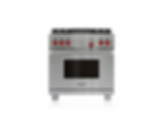 "36"" Dual Fuel Range - 4 Burners and Infrared Charbroiler DF364C"
