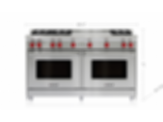 "60"" Gas Range - 6 Burners and French Top GR606F"