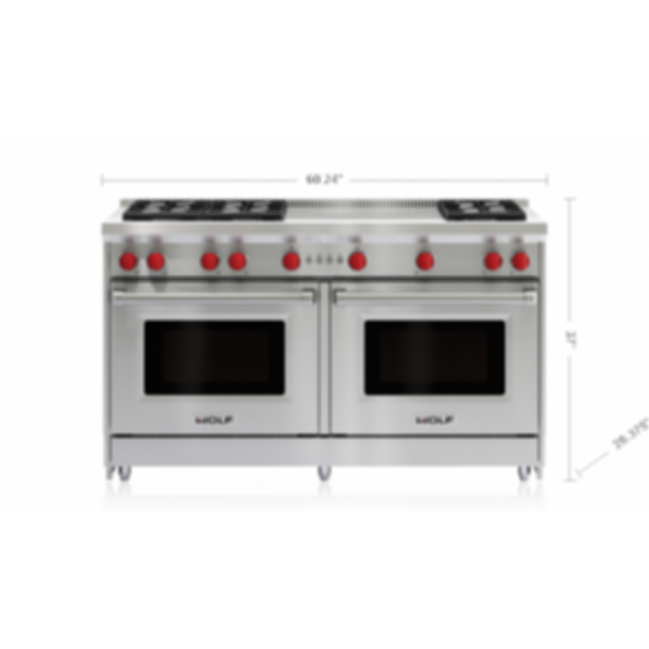 """60"""" Gas Range - 6 Burners and French Top GR606F"""