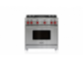"36"" Gas Range - 4 Burners and Infrared Charbroiler GR364C"