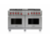 "60"" Dual Fuel Range - 6 Burners, Infrared Charbroiler and Infrared Griddle DF606CG"