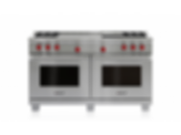 "60"" Dual Fuel Range - 4 Burners, Infrared Griddle and French Top DF604GF"