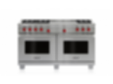 "60"" Dual Fuel Range - 6 Burners and French Top DF606F"