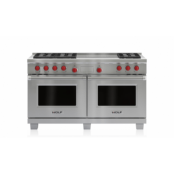 """60"""" Dual Fuel Range - 6 Burners and French Top DF606F"""
