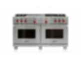 "60"" Dual Fuel Range - 4 Burners, Infrared Charbroiler and French Top DF604CF"