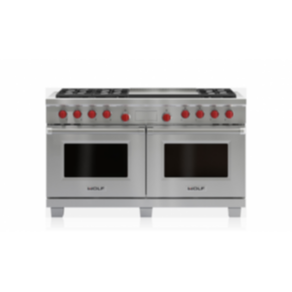 "60"" Dual Fuel Range - 6 Burners and Infrared Dual Griddle DF606DG"