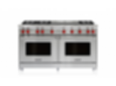 "60"" Gas Range - 6 Burners and Infrared Dual Griddle GR606DG"