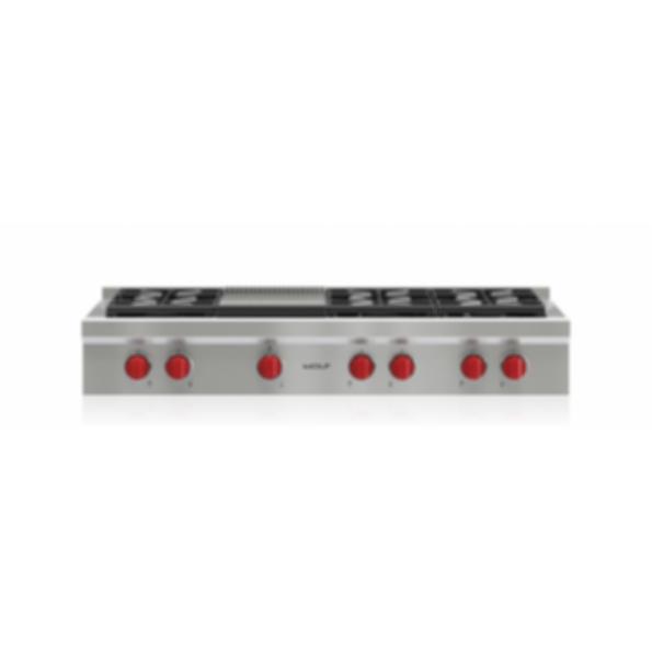 """48"""" Sealed Burner Rangetop - 6 Burners and Infrared Griddle SRT486G"""